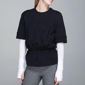 Lululemon // Black Peplum Pullover